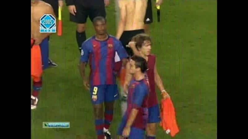 ЛЧ 2004 05 Группа F 2 тур Барселона Шахтер 3 0
