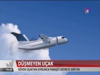 Düşmeyen yolcu uçağı Gövde uçaktan ayrılınca Paraşüt devreye giriyor