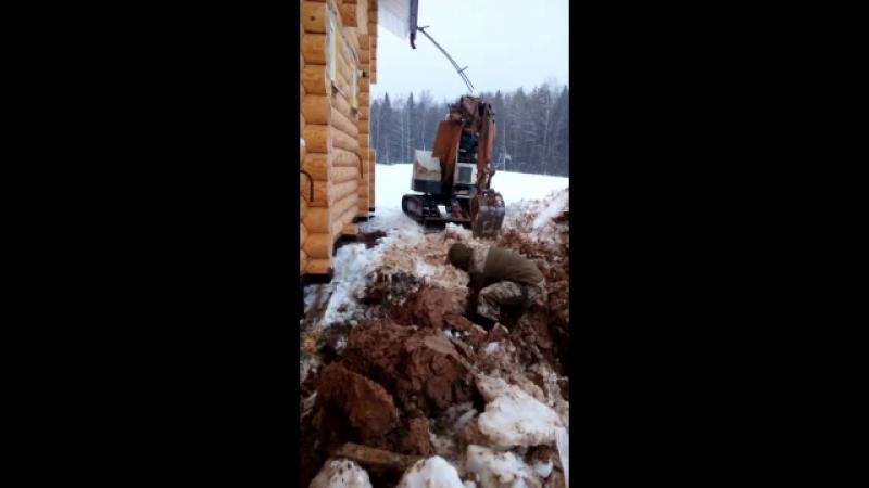 промерзание глины 40см в январе