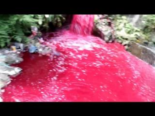 Geger, Sungai Bah Bolon berubah warna seperti darah..