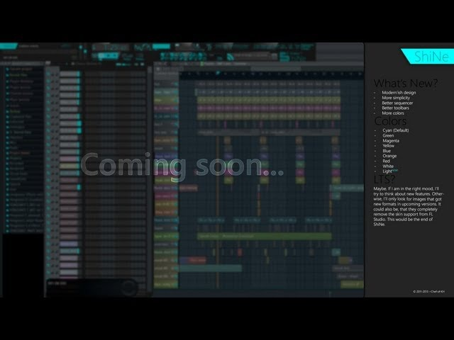 FL Studio Skins - ShiNE 5 Skin by Chef-of-KH deviantART Free Download