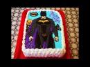 ТОРТ на день рождения Детский торт раскраска БЭТМЕН Как украсить торт Cake decorating Т