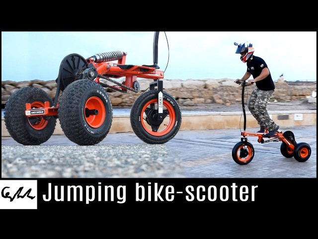 Make it Extreme's jumping bike scooter