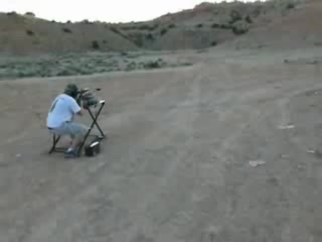 Guy hit in head with 50 caliber ricochet
