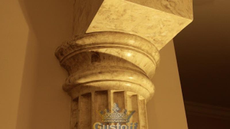 Мраморные колонны - венецианская штукатурка. columns marble Venetian plaster