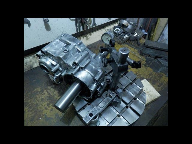 KX500: Ручная правка плоскости привалки / Repair of plane for cylinder
