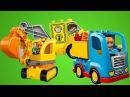 Рабочие машины в Лего Сити. Видео для детей на английском языке.