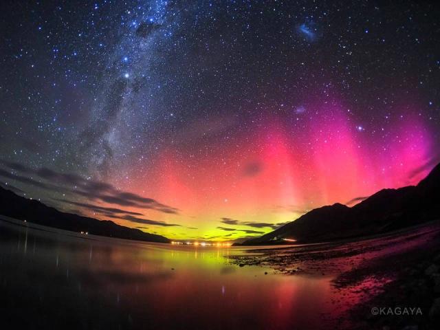 ニュージーランドで撮影した低緯度オーロラ