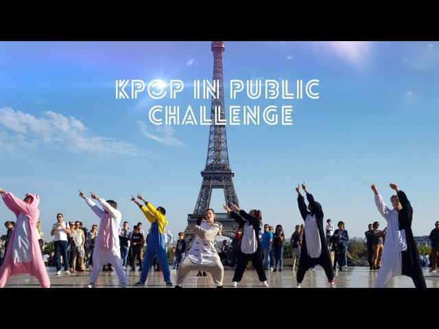 [DANCING TO KPOP IN PUBLIC PARIS] BTS - GO GO dance cover by RISIN' CREW from France (kigurumi ver.)