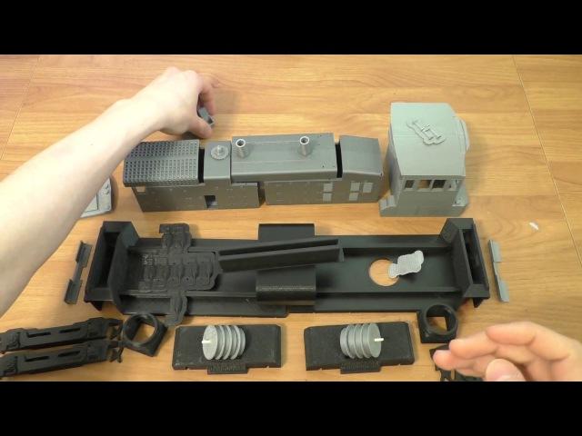 Локомотив EMD SW1500 на 3D принтере Anet A6