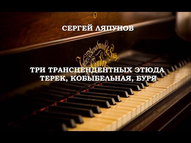 Сергей Ляпунов.3 трансцендентных этюда. Терек, Колыбельная,Буря . Исполняет Алек ...