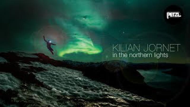 Kilian Jornet in the Northern Lights Petzl