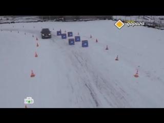 Как правильно входить в поворот на ледяной дороге