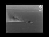 Неудачная атака британского конвоя в проливе Ла-Манш,в результате которой был сбит один немецкий истребитель,1940 год