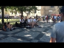 Prague, jazz band at st. Nicholas Church, Old Town Square 15.08.2017