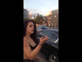 LiveLeak.com - GIRLS FIGHT , NO PANTIES OR BRA, Downtown Miami club space bitch breaks her friends face for talking shit!! must