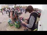Awesome Pipe-Drummer _ PipeDrumz _ Neon Pipe Drummer