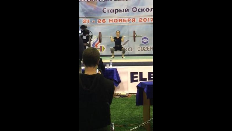 Настя Пенкина Чемпионат России по тяжёлой атлетике 2017 г 3 место