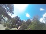Полет на катапульте с gopro