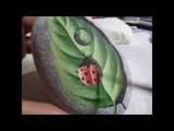 Speed Painting on Natural Beach Stone by Rock Art Attack