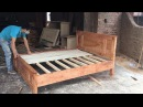 Techniques Make Wooden Bed - Woodworking Fastest and Easy