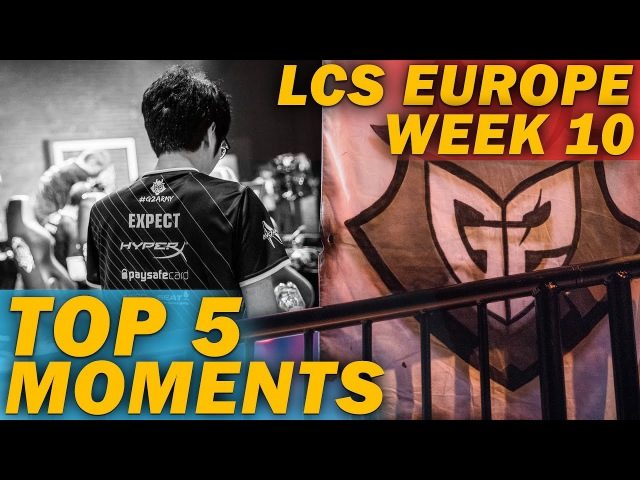 TOP 5 MOMENTS | LCS EU Week 10 (League of Legends)