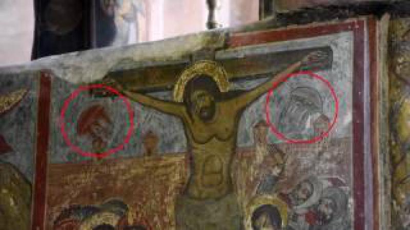 Отец, Сын и внеземная цивилизация: в Грузии нашли НЛО на иконе