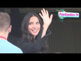 Olivia Munn &amp Aaron Rodgers arrive for X Men Apocalypse Press Panel at 2015 Comic Con SD