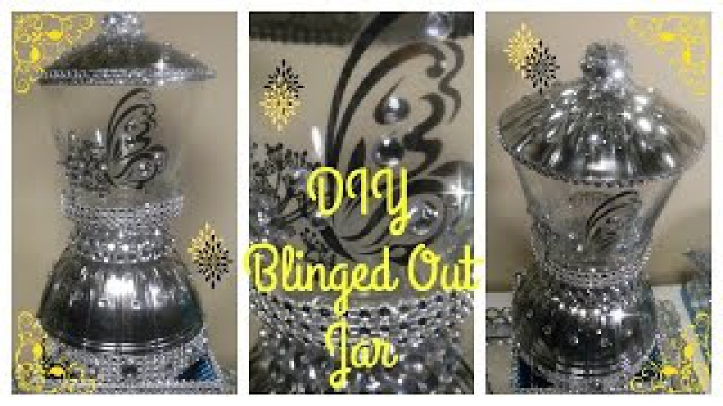 DIY - BLINGED OUT MIRROR JAR - DOLLAR TREE CRAFT (REQUESTED) 💎 BLING QUEENS (EP 7)