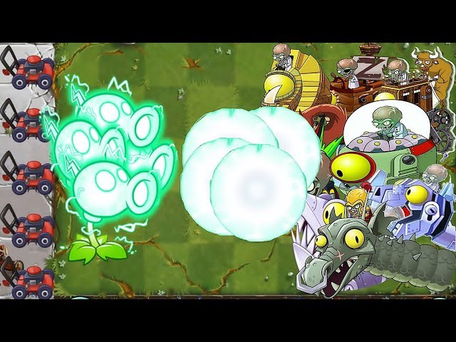 One Electric Peashooter Pvz 2 Power-up Vs All Freakin' Zomboss: Gameplay 2017