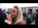 Пратэст у Пінску: Дзяўчына: Люблю Беларусь і чакаю, калі яна нас палюбіць   Протес