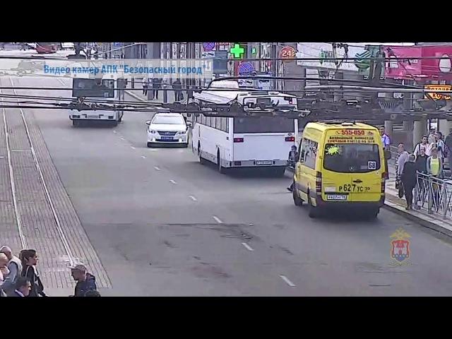 Полицейская погоня за уличным грабителем в Калининграде