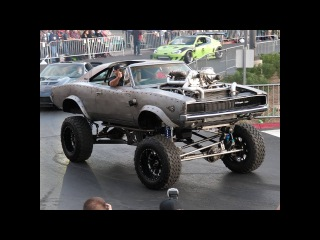 OVERCHARGED - 68' Dodge Charger With Twin Turbos and Twin Superchargers - Vegas Rat Rods - SEMA 2017