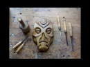 Carving A Dragon Priest Mask Out Of Walnut