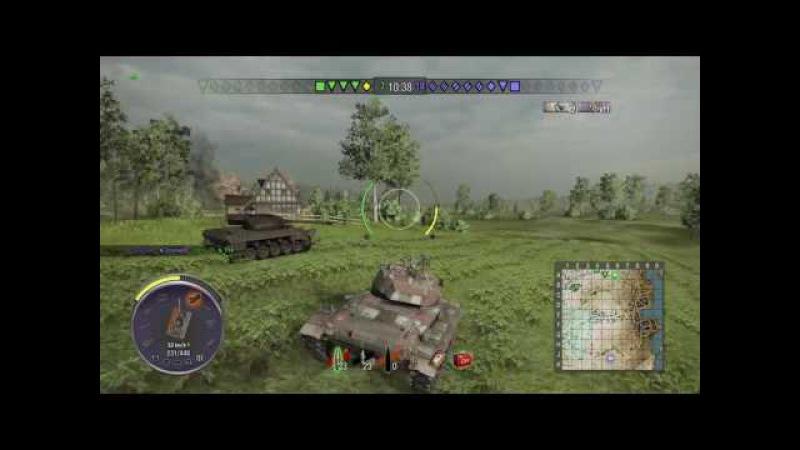 World of Tanks PS4 M24 Chaffee а ведь мог затащить... ракал... :(