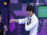 Lee minho teach fighting step of City hunter in Happy camp