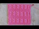 Рельефный узор Вязание спицами Видеоурок 246