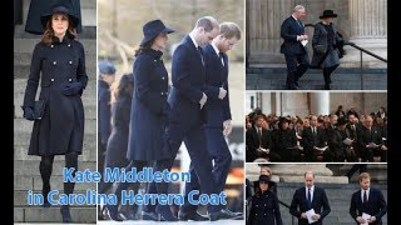 KATE MIDDLETON Displays an Elegant Fashion Style as she Joins WILLIAM HARRY in a Navy Blue COAT