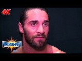 Seth Rollins reacts after facing his mentor Triple H WrestleMania 4K Exclusive, April 2, 2017