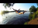 Скетч - правила поведения на речке | Неудачные прыжки в воду (пластом) | Наши в Еги