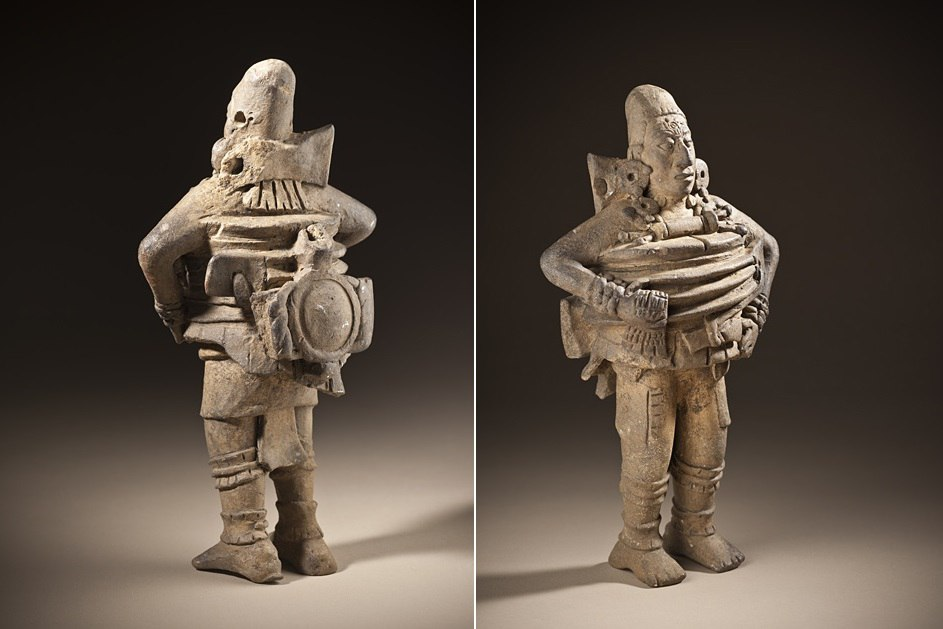 загадочная фигурка майя космонавт