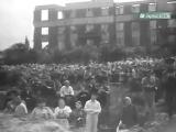 Публичная казнь фашистов на городской площади в Краснодаре , 18 июля 1943 г. Кин