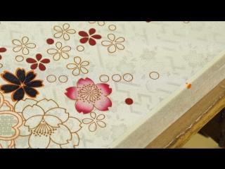 Техника нанесения рисунка на шелк «юдзэн дзомэ»