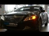 Замена штатных линз на би-ксеноновые Hella 3R+ и Установка Дневных ходовых огней ProBright Proxima на Toyota Camry V50 2013 год