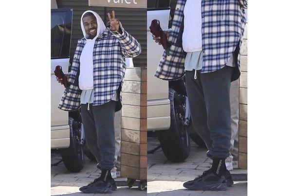 Kanye West in New adidas YEEZY Desert Rats