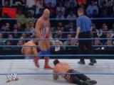 WWE Rebellion 2002 - Chris Benoit and Kurt Angle vs Los Guerreros (WWE Tag Team Championship)