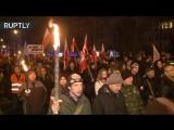 Польские националисты провели факельное шествие в честь «проклятых солдат»
