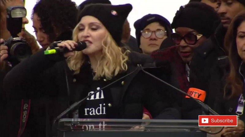 Madonna - Womens March Speech Blowing Up The White House on Washington Anti Donald Trump Protest (2017)