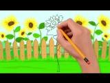 Дюймовочка учит виды цветов. Развивающие мультики для детей от 0 до 4х лет