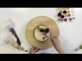 Оформление торта кремовыми цветами от Валерии Можаевой